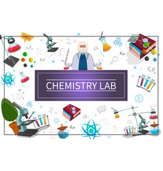 flat chemistry laboratory concept vector image