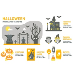 Flat design Halloween infographic vector image