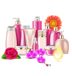flower cosmetics vector image