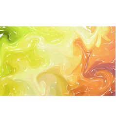 fluid colorful shapes background green orange vector image