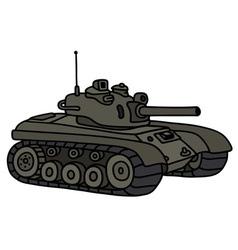 Funny khaki tank vector