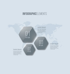 glass infographic elements template for diagram vector image
