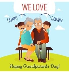 grandparents day concept vector image