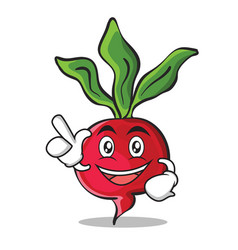 Have an idea radish character cartoon collection vector