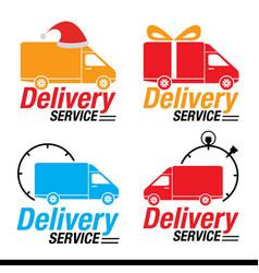holiday season delivery symbol set vector image