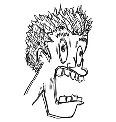 imaginative face vector image