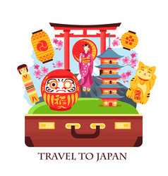 Japan travel concept vector