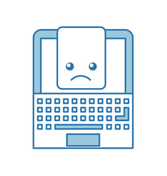 Laptop computer with document vector