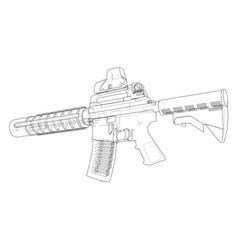 machine gun vector image