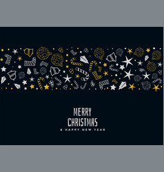 merry christmas decorative card design vector image