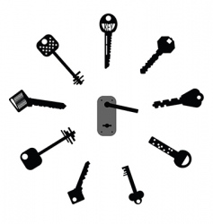 mixed keys vector image