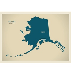 Modern Map USA Alaska vector image