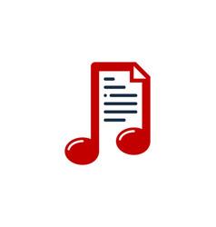 Music document logo icon design vector