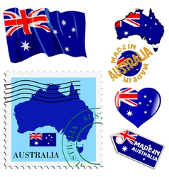 national colours of Australia vector image
