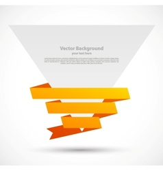 origami design banner with red tapes vector image