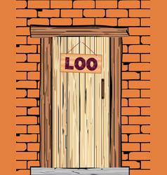 Outside loo door vector