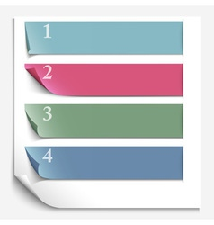 Paper design template for numbered paper banners vector image