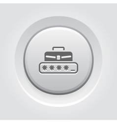 Personal Access Icon Grey Button Design vector