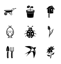 Plant food icons set simple style vector