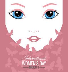 poster international women day vector image
