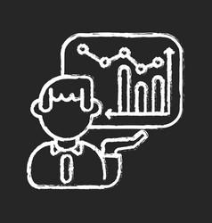 presentation skills chalk white icon on black vector image