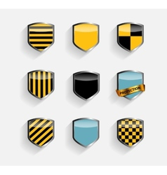 Protect Shield Set vector image