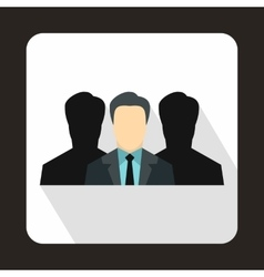 Recruitment icon in flat style vector image
