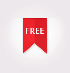Red Label Icon of Free Product vector