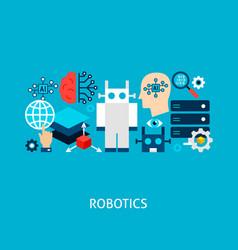 Robotics concept vector