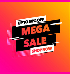 sale banner template design with colorful gradient vector image