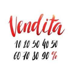 Sale Italian Hand lettering Design Template vector