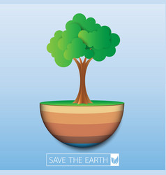 save the eco earth vector image