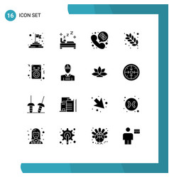 Set 16 modern ui icons symbols signs for ipod vector