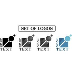 set of cube logos vector image