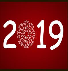 shiny christmas ball for merry christmas 2019 and vector image