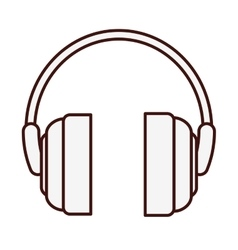 Single headphones icon image vector