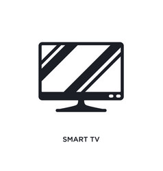 smart tv isolated icon simple element from vector image