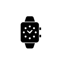 smart watch digital clock flat icon vector image
