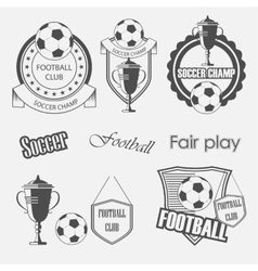 soccer football crests and emblem designs vector image