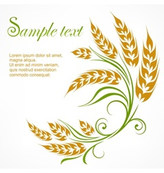 Stylized wheat pattern text vector image