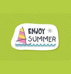 summer poster card enjoy summer vector image