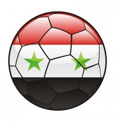 Syria flag on soccer ball vector