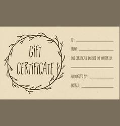 tan textured gift certificate vector image