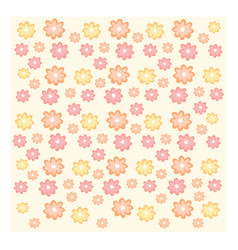 texture of yellow orange and pink flowers on pale vector image
