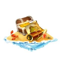 treasure island isolated on white background vector image