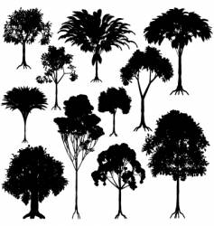 tree outlines vector image