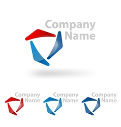 triangle logo design vector image