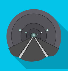 Tunnel single icon in flat styletunnel vector