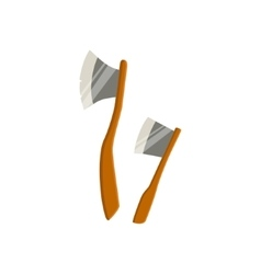 Two Axes For Chopping Wood Camping vector