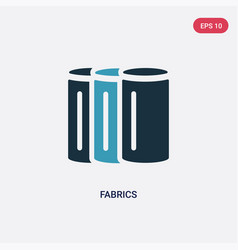 Two color fabrics icon from sew concept isolated vector